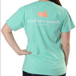 Seafoam colored Southern Marsh shirt